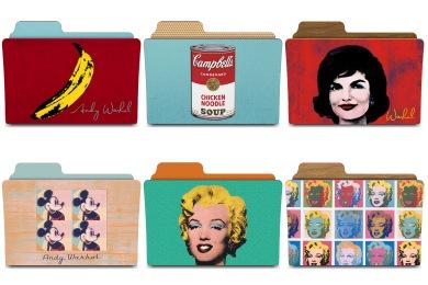 Warhol Folders Icons