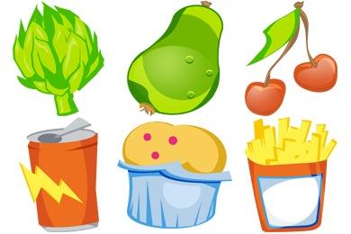 U R What U Eat Icons