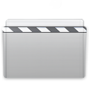 Folder Movie Graphite icon