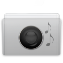 Folder Music Graphite icon