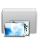 Folder Picture Graphite icon