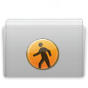 Folder Public Graphite icon