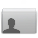 Folder User Graphite icon