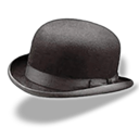 Hat bowler icon