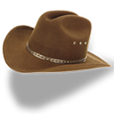 Hat cowboy brown icon