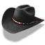 Hat cowboy black icon