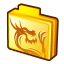 Folder rising dragon icon