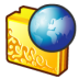 Folder-internet-2 icon