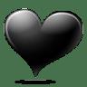 Black-heart icon