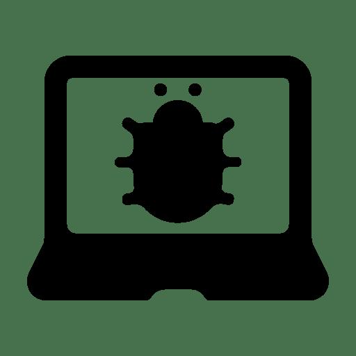 Laptop-bug icon