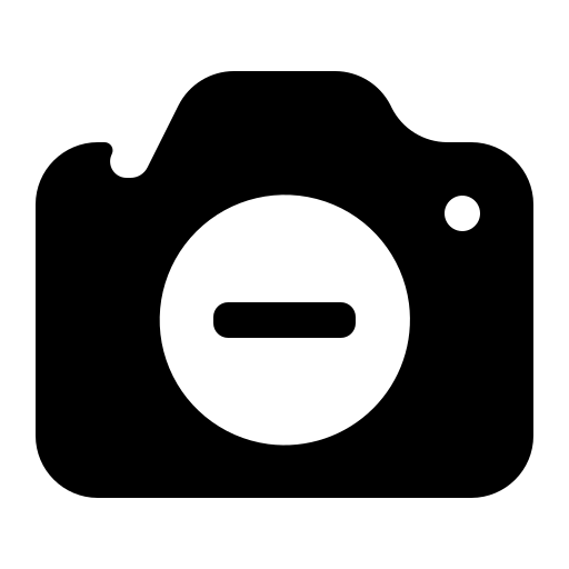 Remove-camera icon
