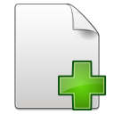 Actions-document-new icon