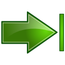 Actions-green-arrow-right-end icon