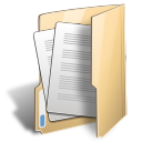 Folder document open icon