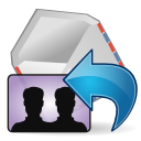 Mail-reply-all icon