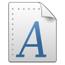 Mimetypes font icon
