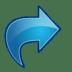 Actions-blue-arrow-redo icon