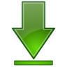 Actions-green-arrow-down-bottom icon