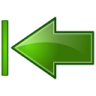 Actions-green-arrow-left-end icon