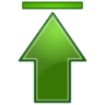 Actions-green-arrow-up-top icon