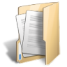 Folder-document-open icon