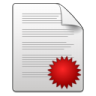 Mimetypes-document-seal icon