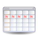 Apps evolution calendar icon