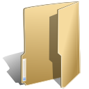 Filesystems folder open icon