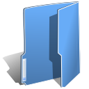 Folder blue icon
