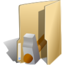 Folder development hammer icon
