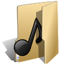 Folder music 2 icon
