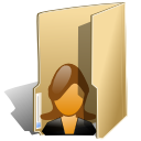 Folder user female icon