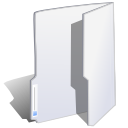 Folder white icon