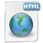 Mimetypes html icon