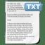 Mimetypes txt icon