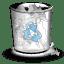 Trash white full icon