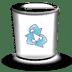 Trash-white-empty icon