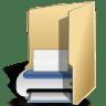 Filesystems-folder-print icon