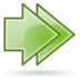 Arrow-double-right icon