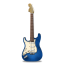 Guitar-stratocaster-blue icon