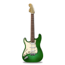 guitar stratocaster green icon