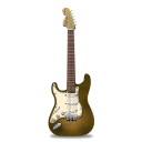 Guitar stratocaster orange bright icon