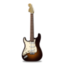 guitar stratocaster orange icon