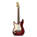 Guitar stratocaster red icon
