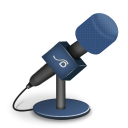 microphone foam blue icon