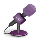 microphone foam pink icon