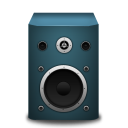Speaker blue icon