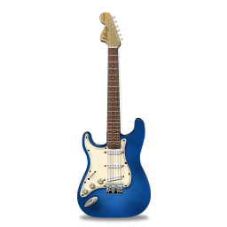 Guitar stratocaster blue icon