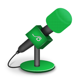 Microphone foam green icon