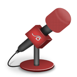 Microphone foam red icon